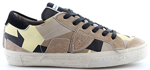 Philippe Model Chaussures Sneakers Hommes Paris Bercy Geometrique Sable Italy