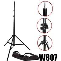 DynaSun W807 - Treppiedi di illuminazione solido e professionale per studio fotografico con sistema anti urto, 300