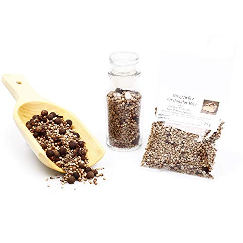 Brotgewürz für dunkle Brote, Brot Gewürzmischung ganz, Brotwürzer, Naturgewürz perfekt zum Brot backen, Bauernbrot Gewürz, glutenfrei 25g