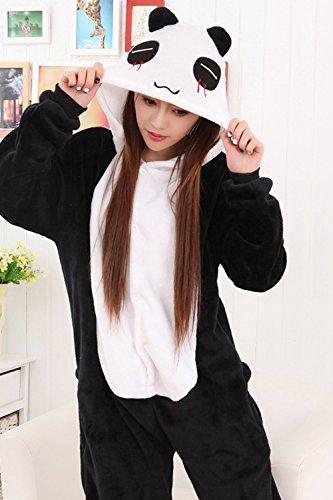 Babyonlinedress Adulte Unisexe Combinaison Pijama Pyjama Onesie Outfit Nuit Anime Animal Costume Cosplay Soirée de Déguisement Panda