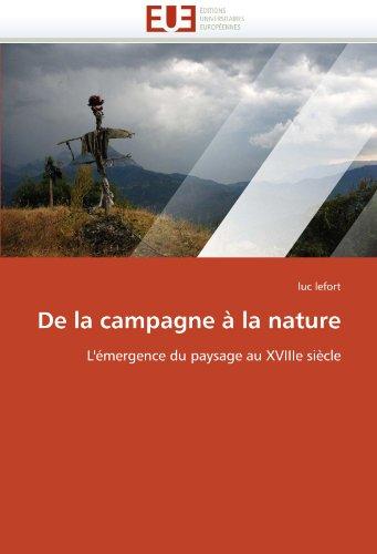 De la campagne à la nature (OMN.UNIV.EUROP.) por LEFORT-l