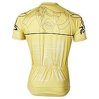 1c15d665e3 Hillento Asciugatura Rapida Maniche Corte Che cicla Gli Uomini del Tour de  France di Traspirante - Giallo