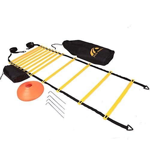 Li-shan Fußballtrainings-Set mit Agility-Leitern, Hürden und Kegeln, Geschwindigkeits-Agility-Set für Übungs- und Fitnesstraining -