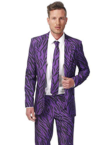 Generique - Violetter Tiger-Anzug Suitmaster für Herren