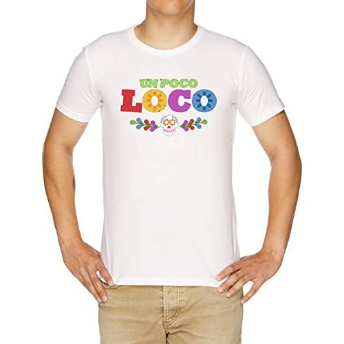 UN Poco Loco - Coco Camiseta Hombre Blanco 2