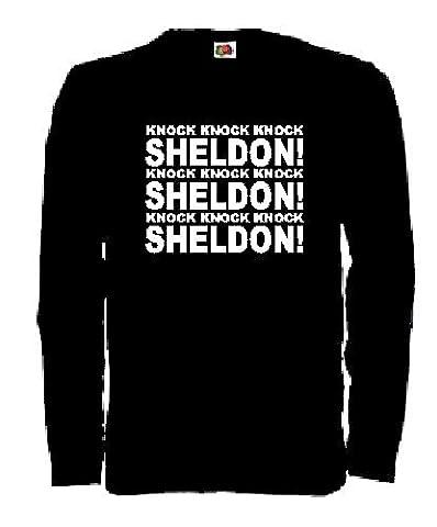 world-of-shirt Herren Longsleeve Shirt The Big Bang Theory knock..Sheldon