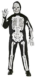 Haunted House - Disfraz de esqueleto con huesos 3D, para adultos, talla única (Rubie