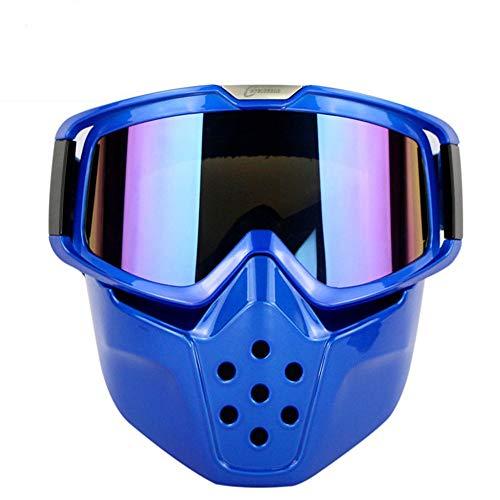 Yuqianqian Polarisierte Sportbrille Sonnenbrille Fahrradbrill Harley Motorrad-Schutzbrille Außen Retro Brille Windsicher Staubbrille REIT Maske Brille (Color : Suzuki Blue Color)