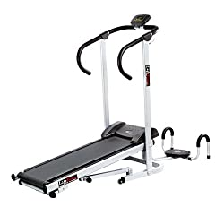 Lifeline Manual Treadmill with Twister and Pushup Wheel attachment