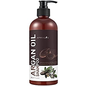Aprilis Organic Moroccan Argan Oil Shampoo, Nourishing, Moisturizing & Volumizing Shampoo with Keratin for Women and Men, for Colored and All Hair Types, 16 fl. oz.
