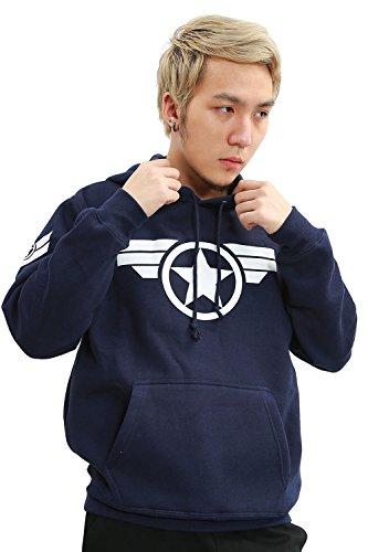 ValuePack Captain Hoodie Cosplay Herren Baumwolle Pullover Sweater -