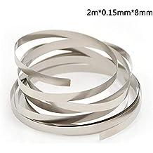iShinê 2M 8 mm x 0.1/0.12/0.15 Tira de níquel Puro para máquina