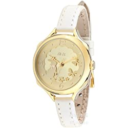 ufengke® unique luxury casual ladies women girls watch-white strap gold dial