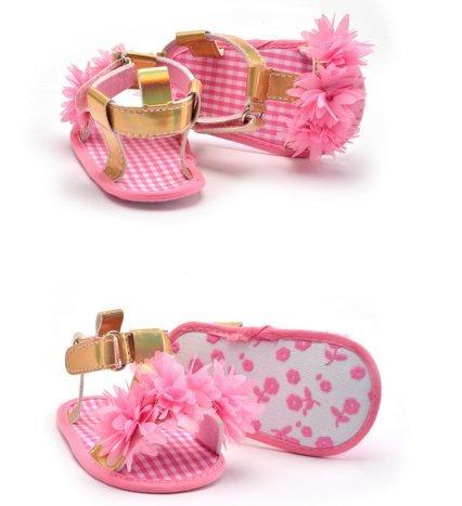 Ohmais Enfants Chaussure Bebe Garcon Fille Premier Pas Chaussure premier pas bébé Sandale en tissu souple pink