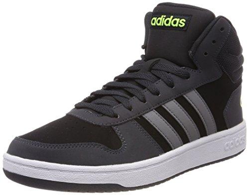 adidas Herren Vs Hoops Mid 2.0 Hohe Sneaker, Schwarz (Core Black/Grey Three/Carbon 0), 42 EU (Adidas-basketball-schuhe Schwarz)