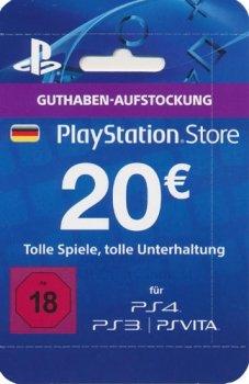 PlayStation Network Card (20 Euro) (PSN Live Card PS3,PS4 PSV) (PS4 PS3 PSV)