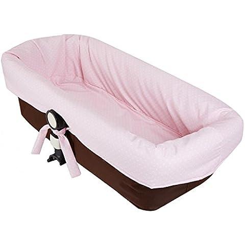 funda capazo para bugaboo camaleon 2 y 3 en pique rosa topo blanco