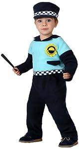 Atosa-16116 Atosa-16116-Disfraz Policia-Bebé 6 a 12 Meses- NIño- negro, Color (16116)