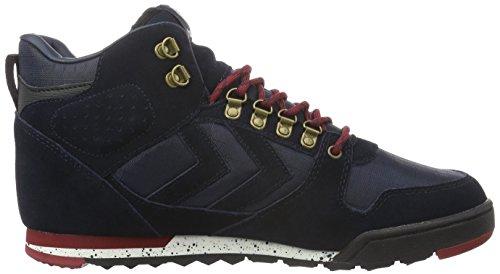 NORDIC ROOTS FOREST BOOT (hohe Sneakers), Outdoor Herrensneakers, Wildleder Sneakers aus Wildleder, mit Schnürung, gepolsterte Ferse, SPORTLICHE FREIZEITSCHUHE Blau (Total Eclipse)