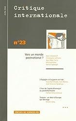 Critique internationale, numéro 23 avril-juin 2004