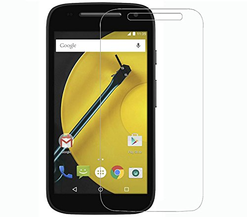 Plus 0.3mm Pro+ Tempered Glass Screen Protector with Original Packaging Kit for Motorola Moto E (2nd gen)