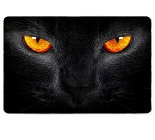 FREEZGTZ Fußmatte Burning Love Short Plüsch Material Cool Big Glitter Eye Cat Gedruckt Black Panther Rutschfeste Fußmatten