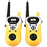 Inrange Premium Battery Operated Walkie Talkie Set for Kids with Extendable Antenna for Extra Range, Multi Color