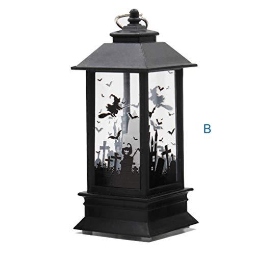 Lichter, Halloween Themed,Simulierte Kürbis Hand Schläger Hexe Flamme Licht Öllampe Halloween Kerze mit LED Teelicht Kerzen für Halloween Deko Party (Colour B) ()