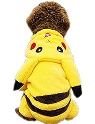 FEESHOW Perro Ropa Linda De Pokemon Pikachu Dibujos Animados Disfraces De Abrigo De invierno Cachorro Gato Mascota Nuevo
