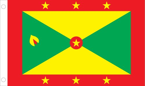 Allied Flag Outdoor Nylon Grenada United Nation Flagge 3 by 5-Feet Rot/Gelb/Grün (Nations-flag United)