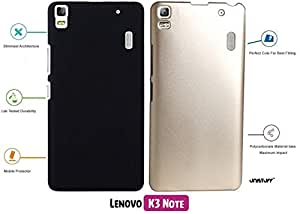 For Lenovo K3 Note[COMBO OFFER]: Unistuff™ Matte Finish Hard Case Back Cover for Lenovo K3 Note [SLIM FIT][FREE SHIPPING] (Black, Golden)