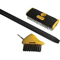 Roughneck 52090 Patio and Decking Brush Set (2-Piece)