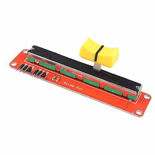 LIUXINDA-MK Sehr praktische 10 K logarithmische Potentiometer Schieben log Potentiometer Dual Output Linear Trim-poti Modul für Arduino AVR elektronische Block