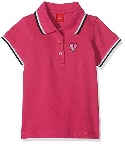 s.Oliver Mädchen Poloshirt 53.804.35.5953, Rosa (Dark Pink 4485), 116