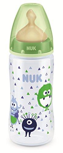Nuk First Choice+, Biberón Látex,  0-6 meses, 300 ml, modelos aleatorios