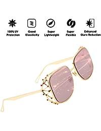 405f80695c61f ATNKE gafas de sol de gran tamaño retro para mujer con marco de decoración  de diamante