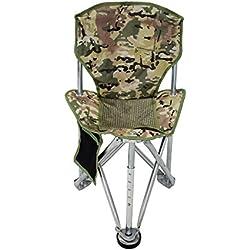 Geertop Chaise de Camping Siège Trépied Pliable Portable Robuste Acier pour Randonnée Pêche Plage Chasse (Camouflage)