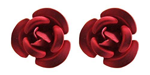 Ohrstecker mit bunten Rosen Rot