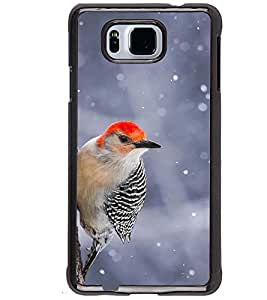 Printvisa Black And Red Cuckoobara Bird Back Case Cover for Samsung Galaxy Alpha G850