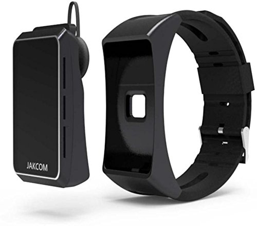 Aquaasian Jakcom B3 Digital Bluetooth Smartwatch with Heart Rate Monitor and Calling Support for iPhone and Android (Black)