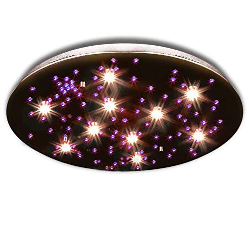 farbwechsel deckenleuchte STARS-L Ø 70cm LED Deckenleuchte m. Fernbedienung, Farbwechsel, Leuchtmittel und Decken Subbeleuchtung Leuchte Lampe Deckenlampe Sternenhimmel Wohnzimmerleuchte Wohnzimmerlampe