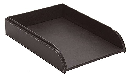 osco-faux-leather-letter-tray-brown