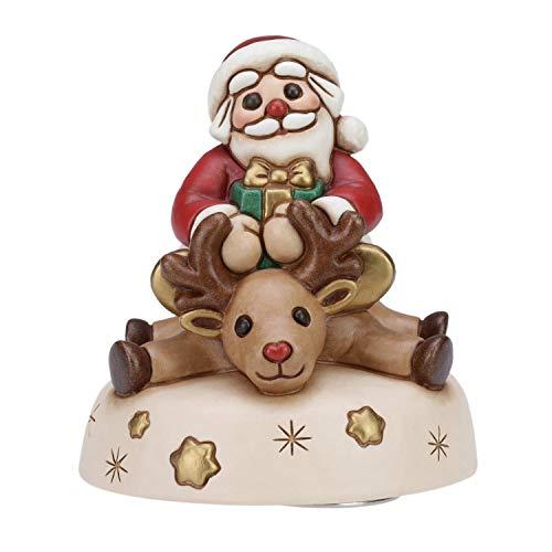 Thun Carillon con Babbo Natale in Ceramica Decorata a Mano, h 13,5 cm