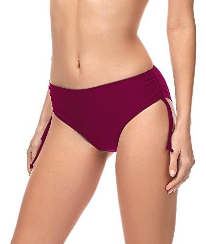 Merry Style Damen Bikini Slip MSVR2 (Weinrot(5288), 42)