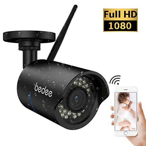 1080P HD Überwachungskamera Sicherheitskamera Unterstützt Handy/PC Fernbedienung IR Nachtsicht Bewegungserkennung Email FTP 128G Aufnahme 3M Stecker Wasserdicht für Innen/Außen ()