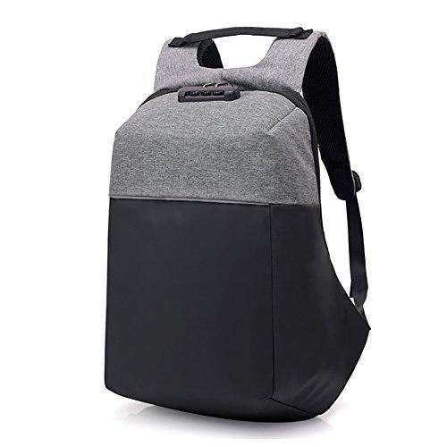 MRSLIU Laptop-Rucksäcke Damen Herren Backpack 15.6 Zoll Daypack - Coded Lock Diebstahlschutz mit USB-Anschluss Wasserdicht Nylon Aktentasche Laptoptasche