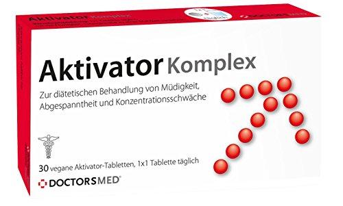 Aktivator Komplex von DoctorsMed® - Natürliche Booster Tabletten Vitamine & Nährstoffe für mehr Energie, Konzentration und Leistungskraft