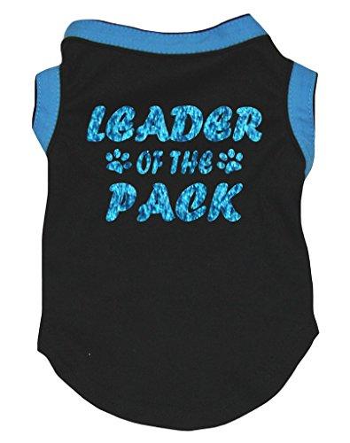 Petitebelle Hundekleid Leader of The Pack, blau/schwarz