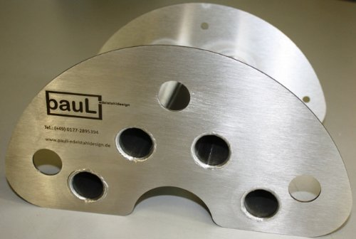 Support pour flexible (petit modèle) en acier inoxydable (2 mm) sans pour montage mural cap
