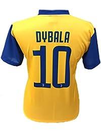 Camiseta Jersey Futbol Segundo Amarillo Juventus Paulo Dybala 10 Replica Autorizado 2017-2018 Niños Adultos (Talla 10 Años)